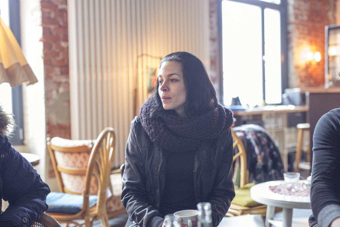 Projektleiterin Stefanie Buld im Café der Alten Seilerei