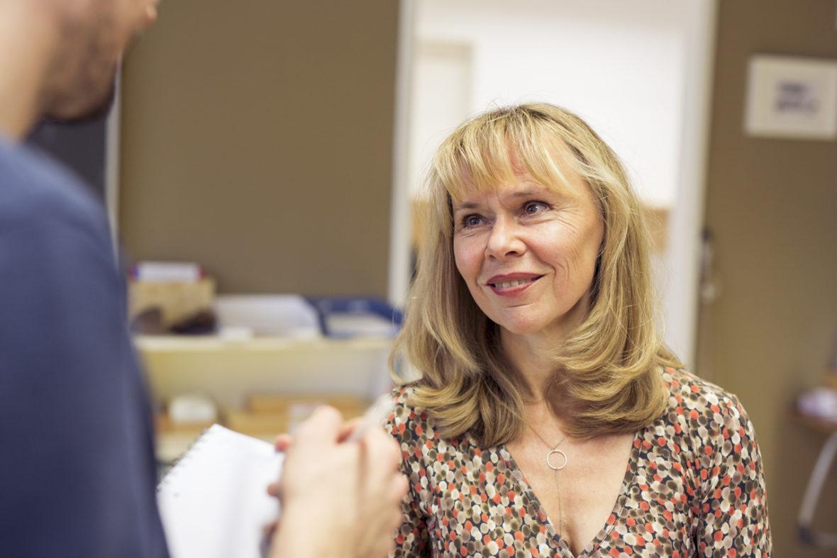 Die Leiterin eines Lernprojekts an einer Montessorischule im Porträt