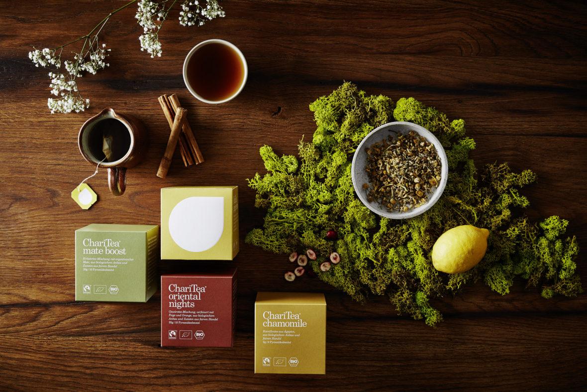 Ein Teepaket von ChariTea