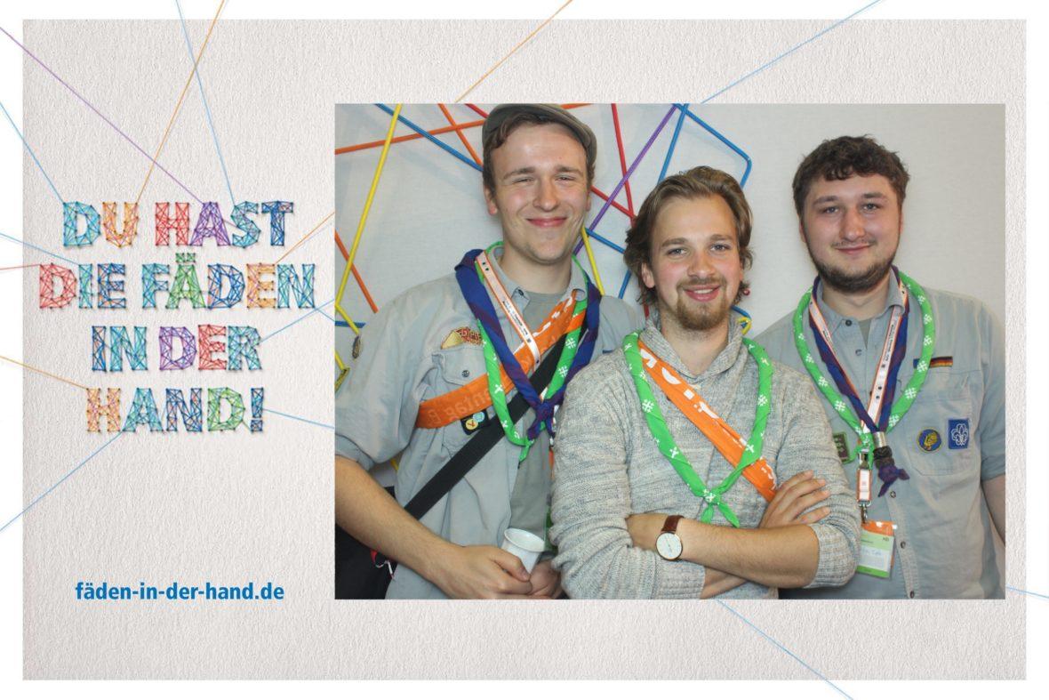 Foto aus dem Fotoautomaten mit Nils, Julius und Niklas