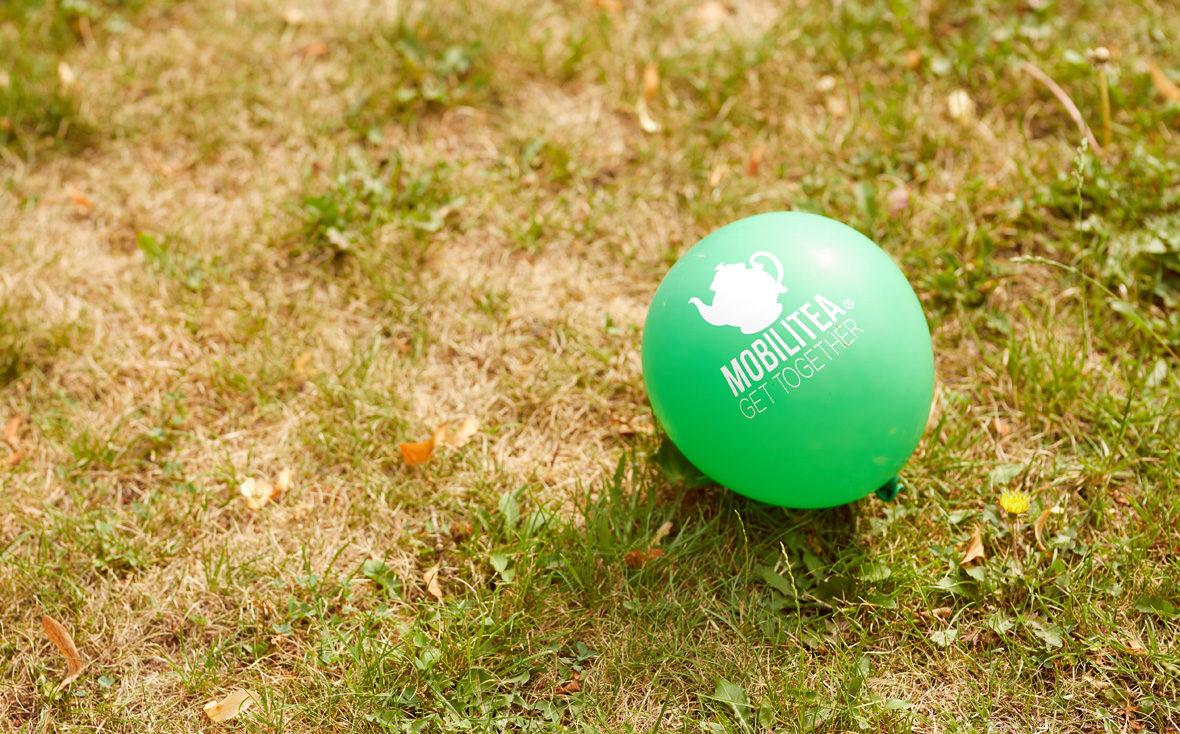 Luftballon mit Mobilitea-Logo