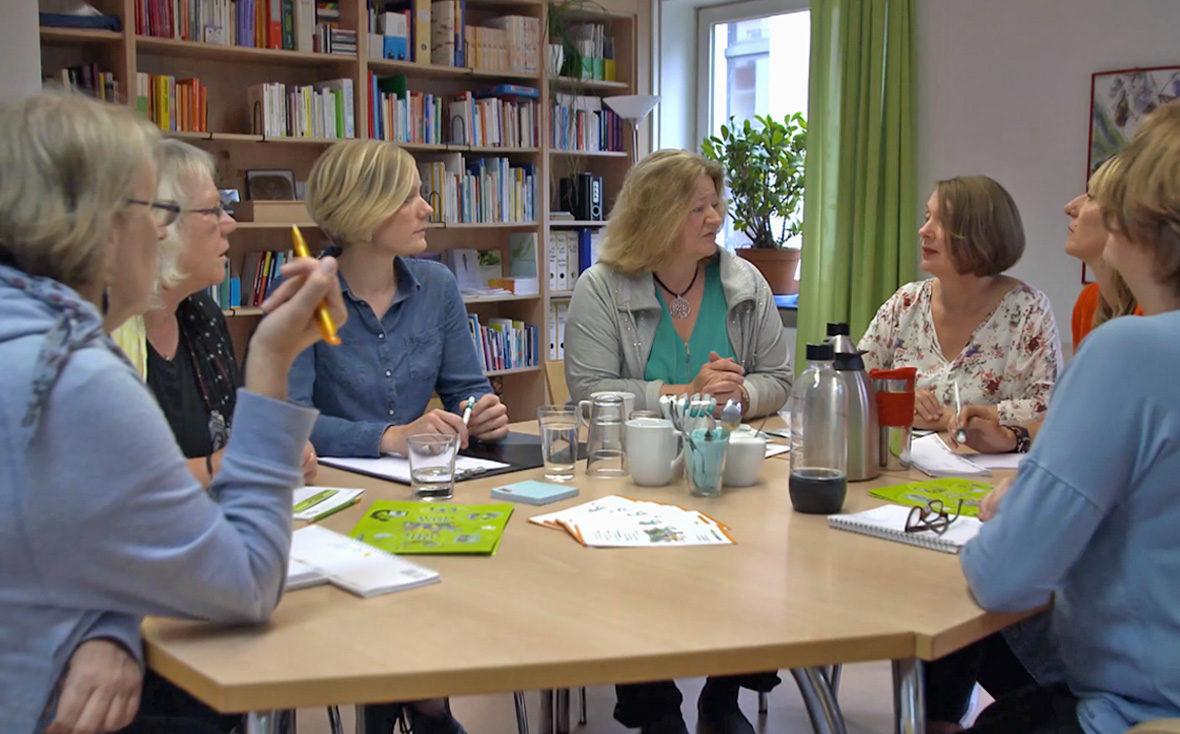 Meeting bei den Kolleginnen der Arbeitsgemeinschaft Kinder- und Jugendschutz Hamburg e.V.