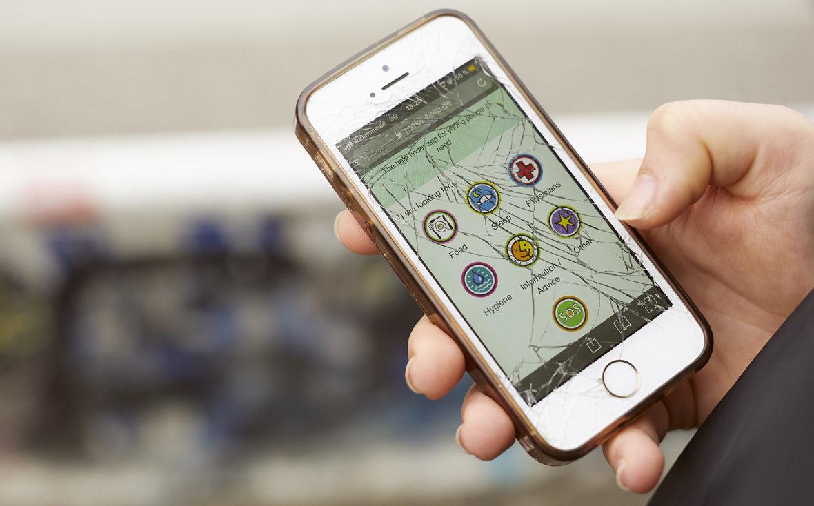 Die MOKLI-App auf dem Handy.
