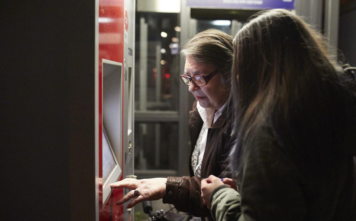 Kulturisten Hoch2: Das Tandem zieht eine Fahrkarte für die Bahn.