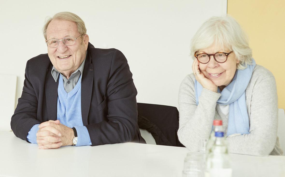 Theo Froehlich und Marlies Paschen vom Verein Freunde der Kinderklinik des UK Eppendorf e.V.