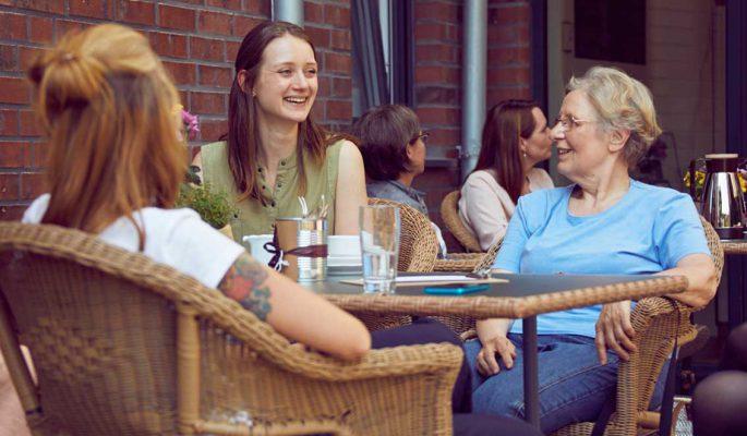 Mathildenstift Muenster Garten Cafe Paschen Und Sarah