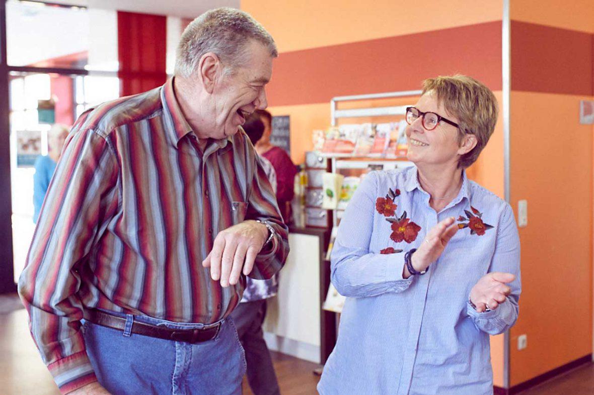 Applaus von Ulla Wilms für das tanzende Paar.
