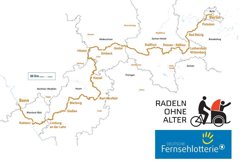 Der Radweg Deutsche Einheit.