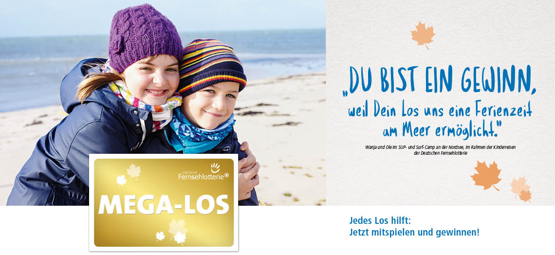 Kinder am Strand und MEGA-LOS