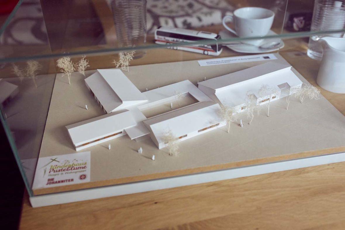 Das Modell des Kinderhaus Pusteblume der Johanniter.
