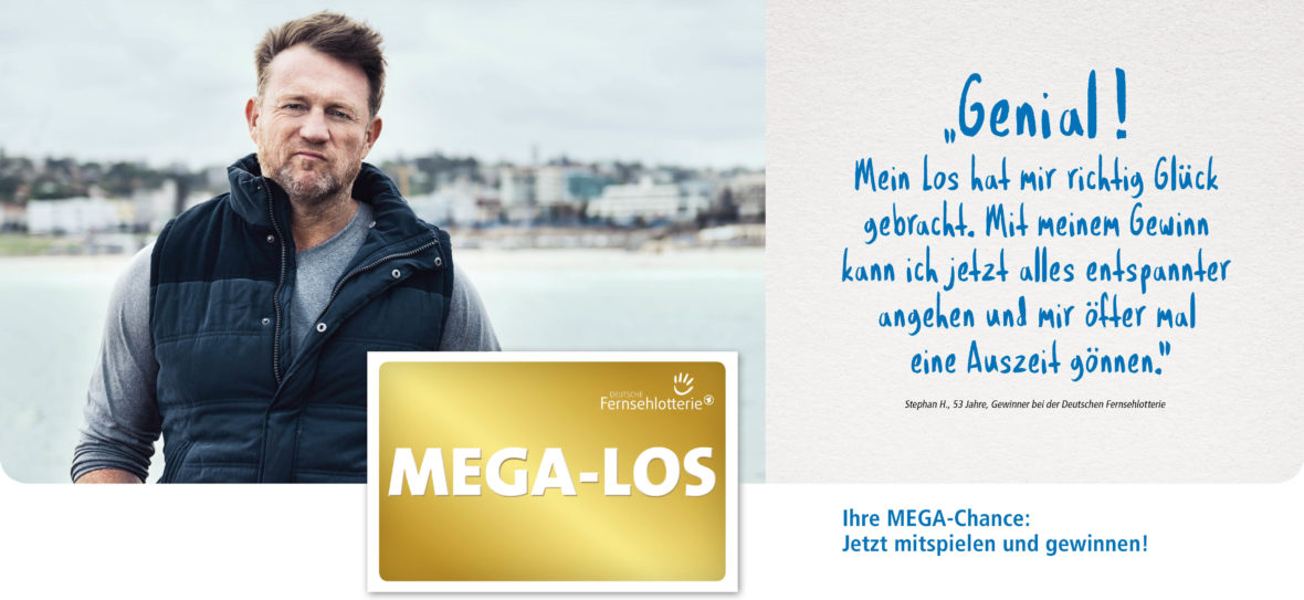 Mann am Meer und MEGA-LOS