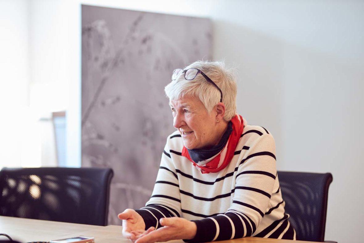 Dagmar Hirche im Gespräch.