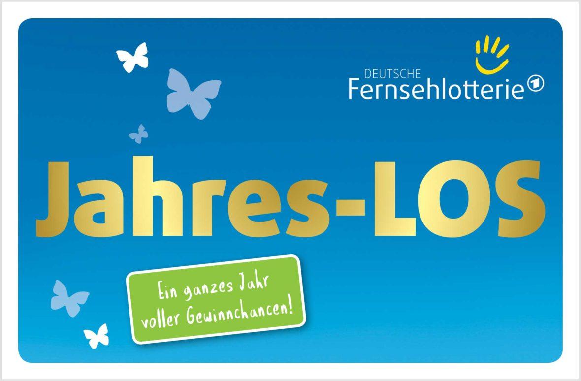 Mit dem Jahres-LOS der Deutschen Fernsehlotterie sichern Sie sich ein Jahr voller Gewinnchancen.