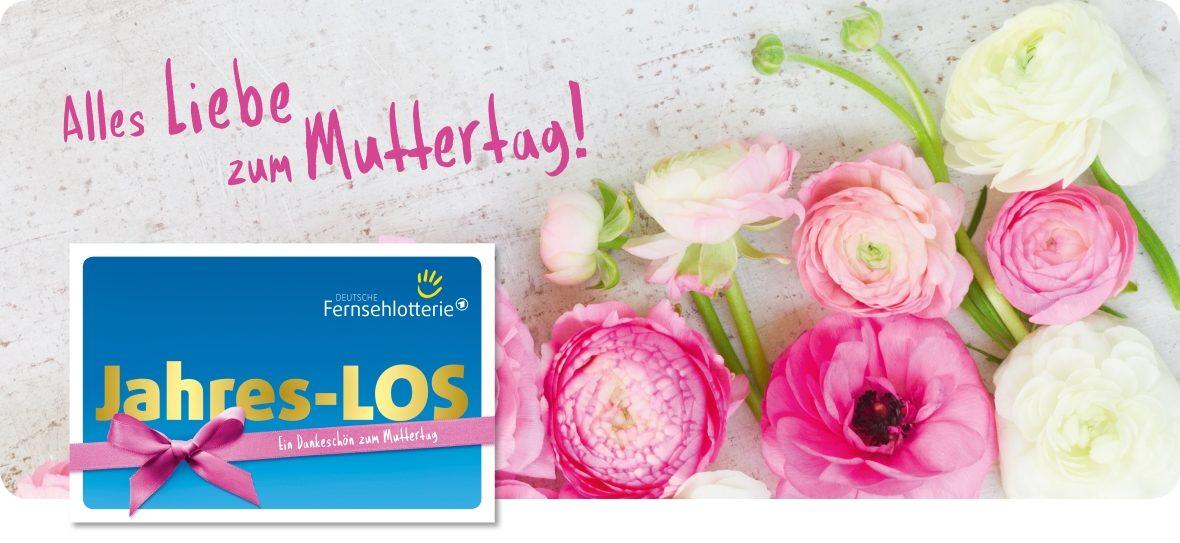 Jahres-LOS als Geschenk zum Muttertag und Ranunkeln