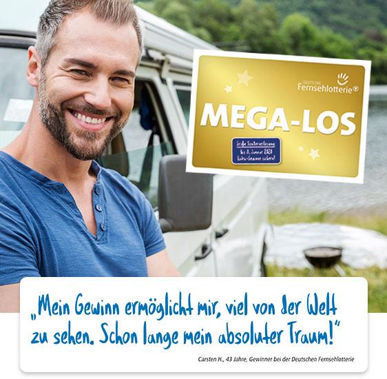 Mann am Auto und MEGA-LOS