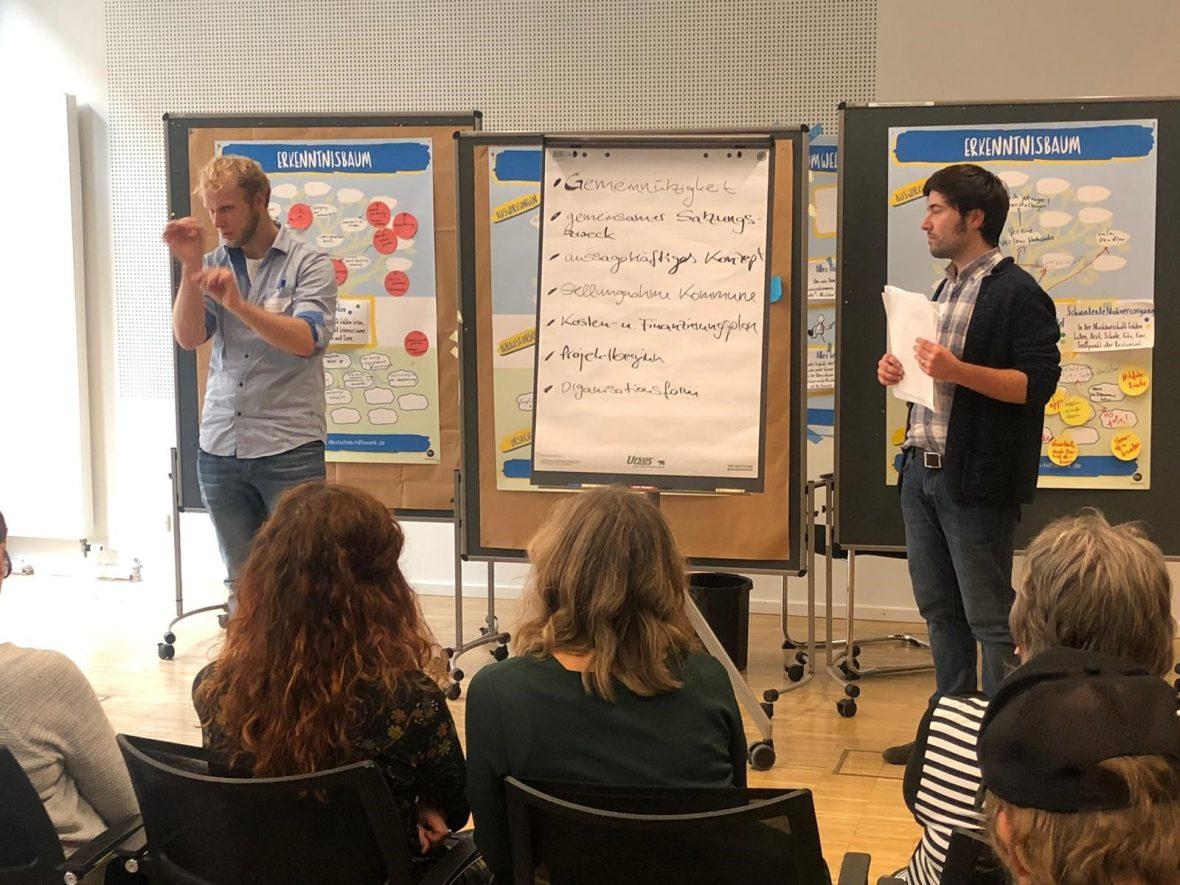 Der Workshop des Deutschen Hilfswerks.