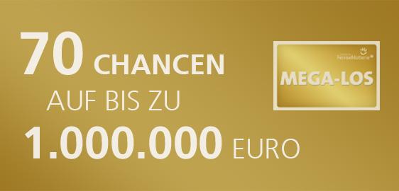70 Chancen auf bis zu 1.000.000 Euro