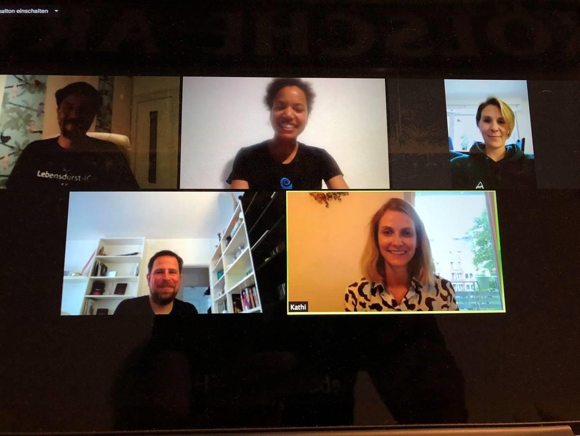 Ungewöhnliche Spendenübergabe: In einer Video-Konferenz erfolgte die virtuelle Übergabe an das Team von LebensdurstICH.