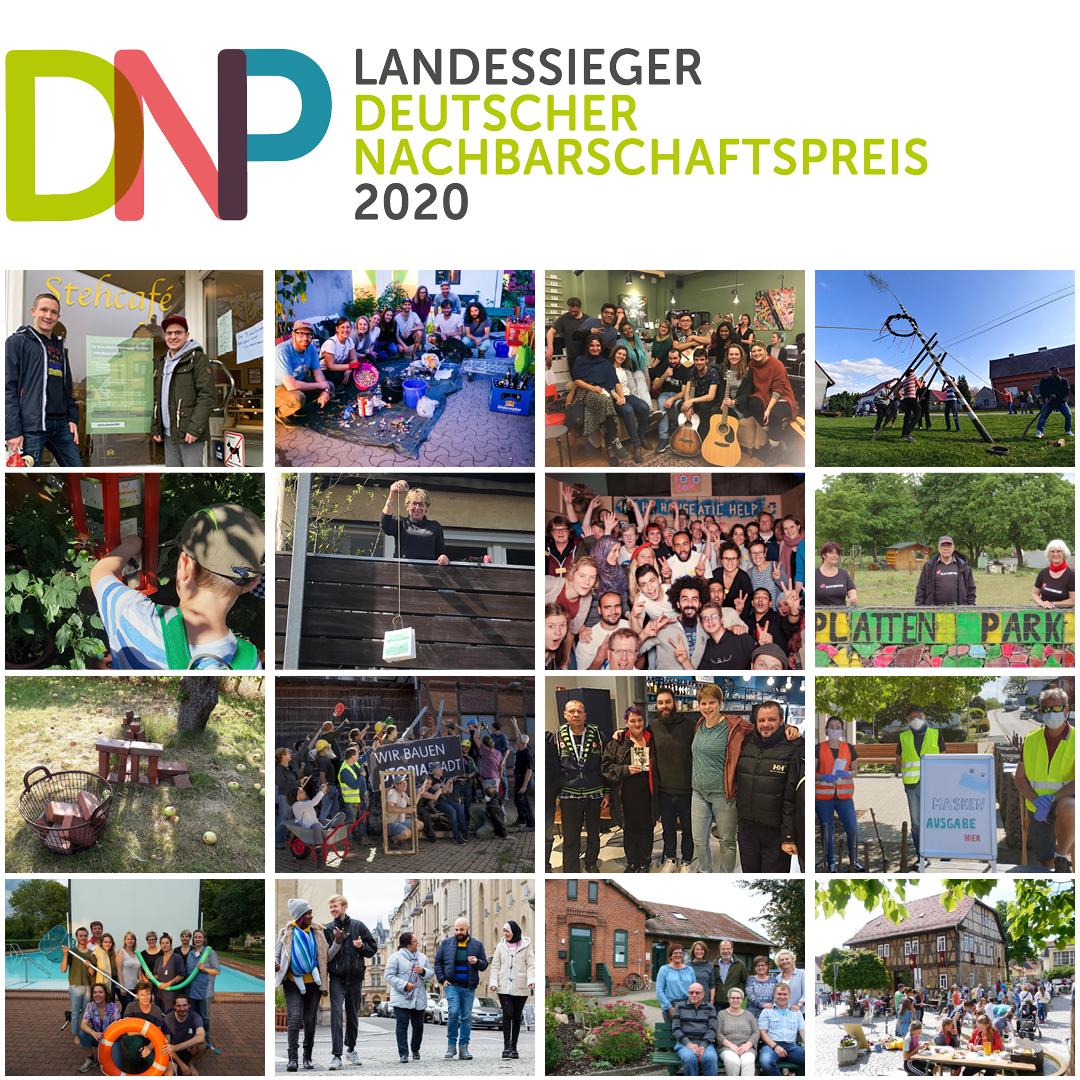 So sehen Sieger aus: Alle 16 Landessieger des Deutschen Nachbarschaftspreises auf einen Blick