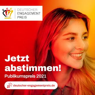 Jetzt abstimmen für den Publikumspreis des Deutschen Engagementpreises.
