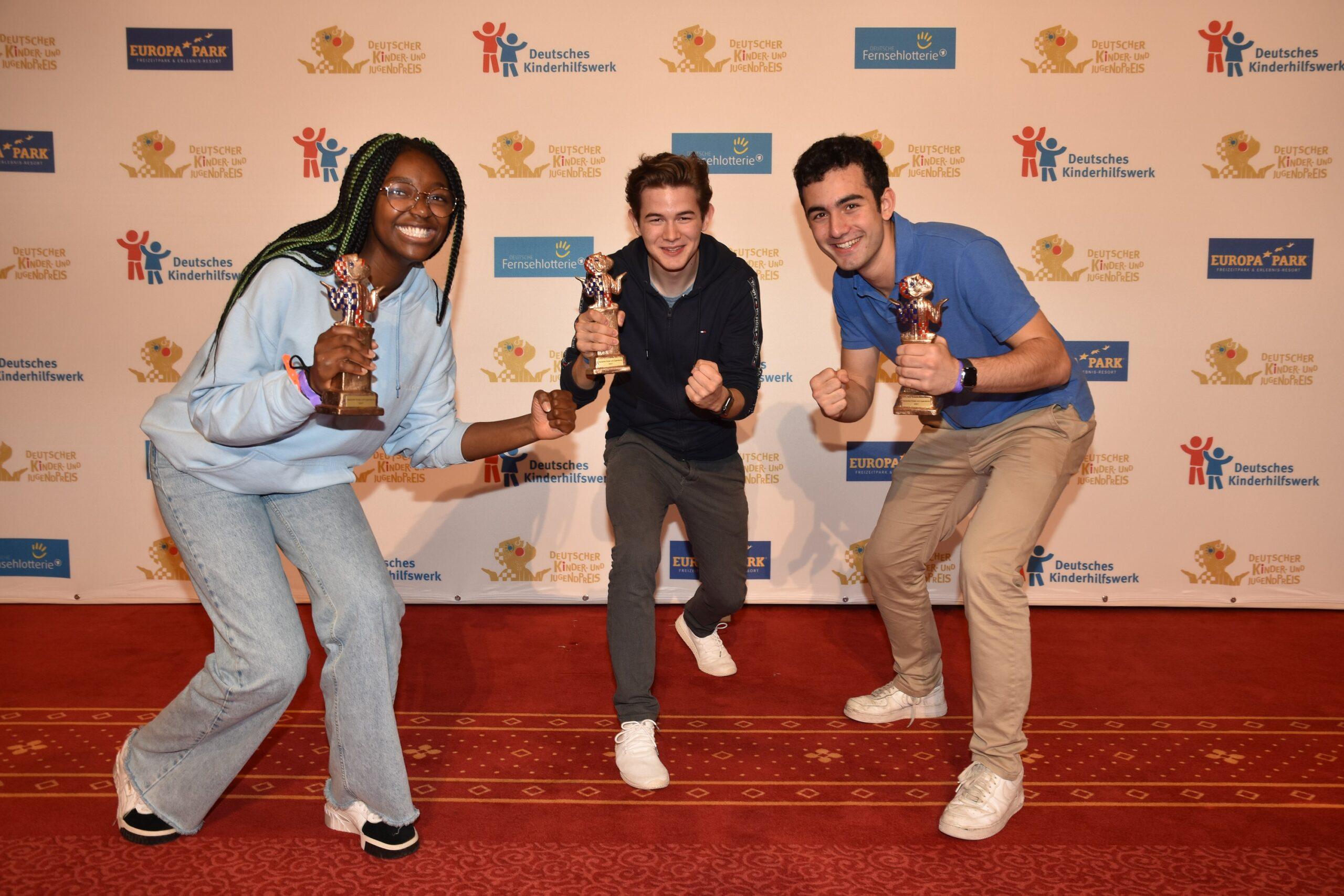 Vivien (Barlach GoYoung), Moritz (The GreenClub) und Noah (CoronaPort) (von links nach rechts). Copyright: Lisa Fischer